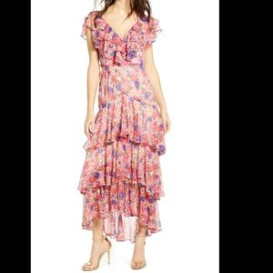 Wayf Chelsea Tiered Ruffle Dress Small NWT